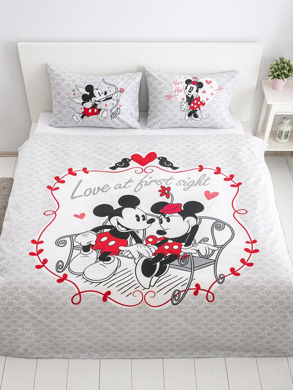 Minnie-Mickey Mouse Çift Kişilik Çift Taraflı Nevresim Seti