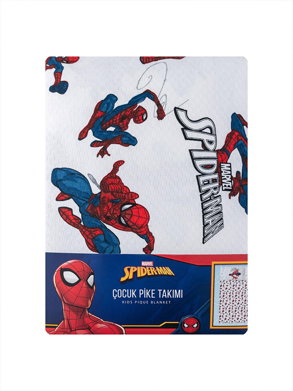 LC Waikiki Lacivert Spiderman Lisanslı Çocuk Pike Takımı