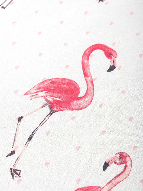 %100 Pamuk Flamingo Baskılı Tek Kişilik Pike Takımı
