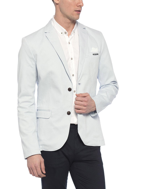 %98 Cotton %2 Elasthane %98 U: COTTON %2 ELASTANE %100 Polyester  Mavi Ceket