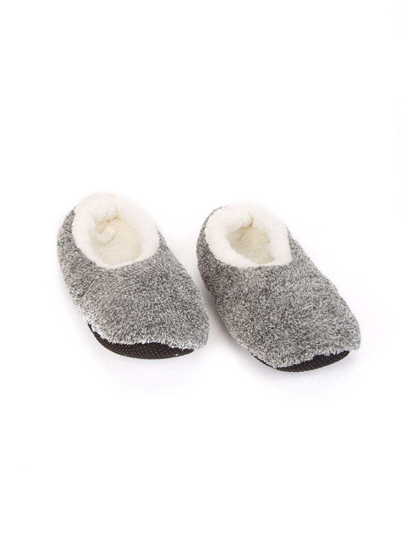 %100 Polyester %100 Polyester Terlik ve Sandalet Kaydırmaz Tabanlı Ev Çorabı