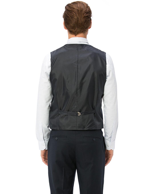 %66 Polyester %1 Elastan %33 Viskoz %100 Polyester Standart Kısa Yelek İnce Klasik Takım Elbise Yeleği