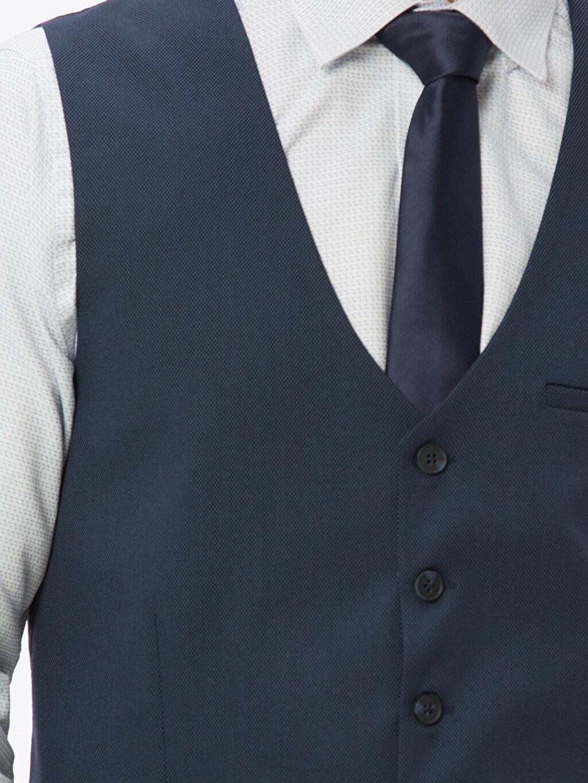 %66 Polyester %1 Elastan %33 Viskoz Klasik Takım Elbise Yeleği