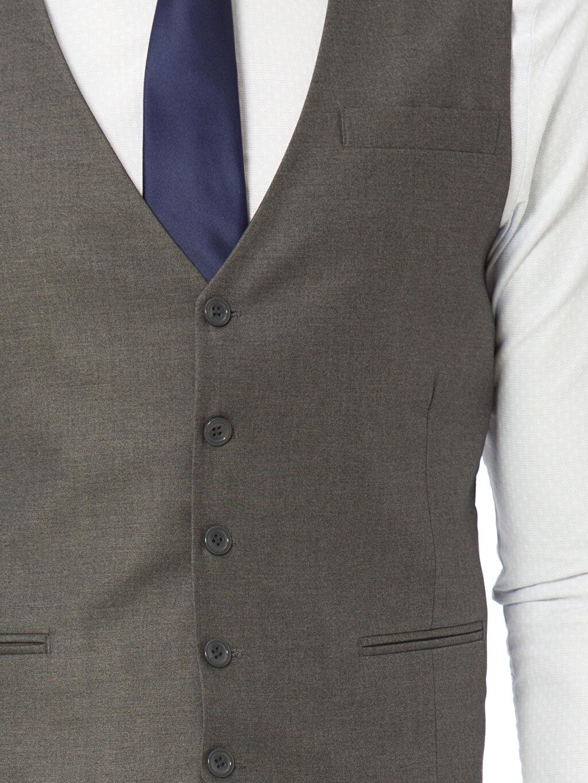 %65 Polyester %35 Viskon Klasik Yelek