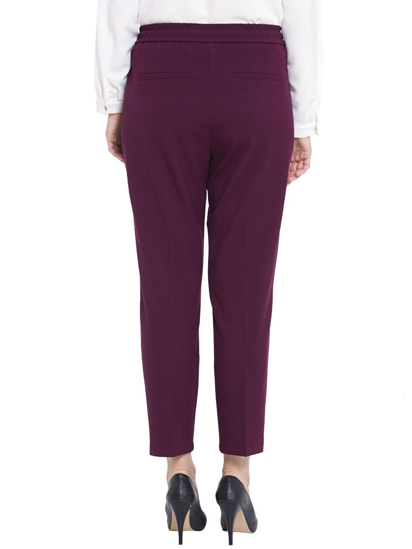 %64 Polyester %4 Elastan %32 Viskon Yüksek Bel Esnek olmayan Havuç Kumaş Pantolon Diğer Yüksek Bel Pantolon