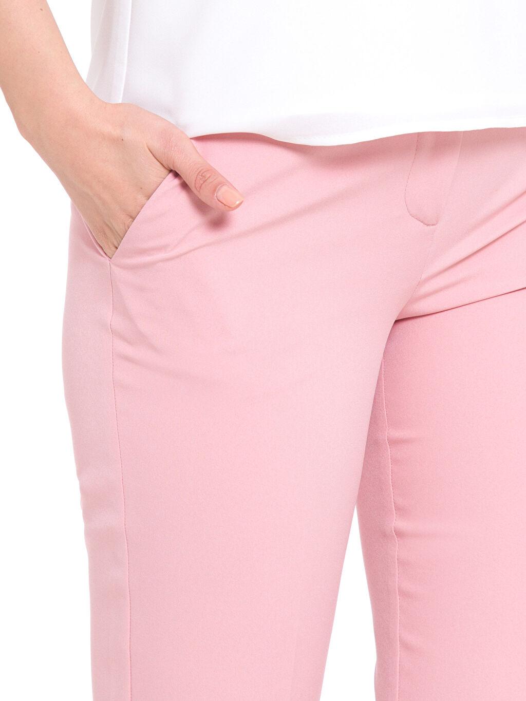 %88 Poliester %12 Elastane Normal Bel Dar Dar Paça Pantolon