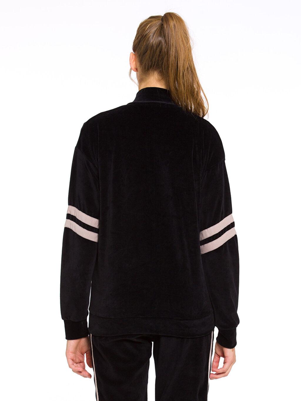 Kadın Kadife Fermuarlı Sweatshirt