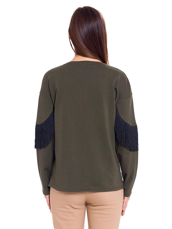 Kadın Püskül Detaylı Bluz