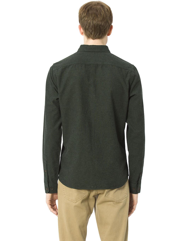 %100 Pamuk Düz Uzun Kol Standart Uzun Kollu Gömlek