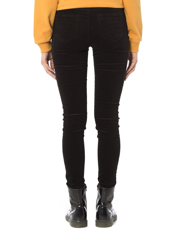 %98 Pamuk %2 Elastan Normal Bel Dar Skinny Kadife Pantolon