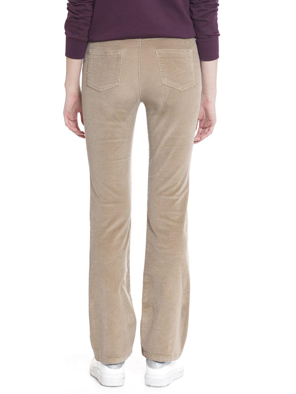 %98 Pamuk %2 Elastan Normal Bel Standart Kadife Pantolon