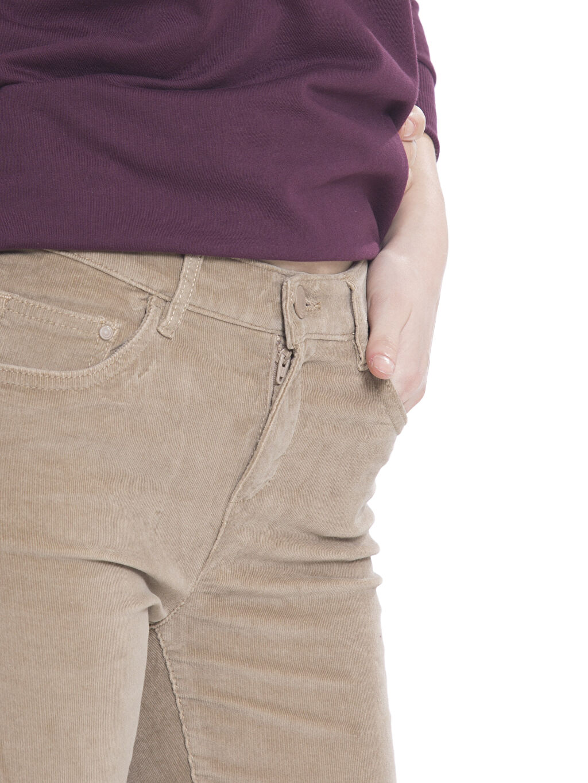 %98 Pamuk %2 Elastan Kadife Pantolon