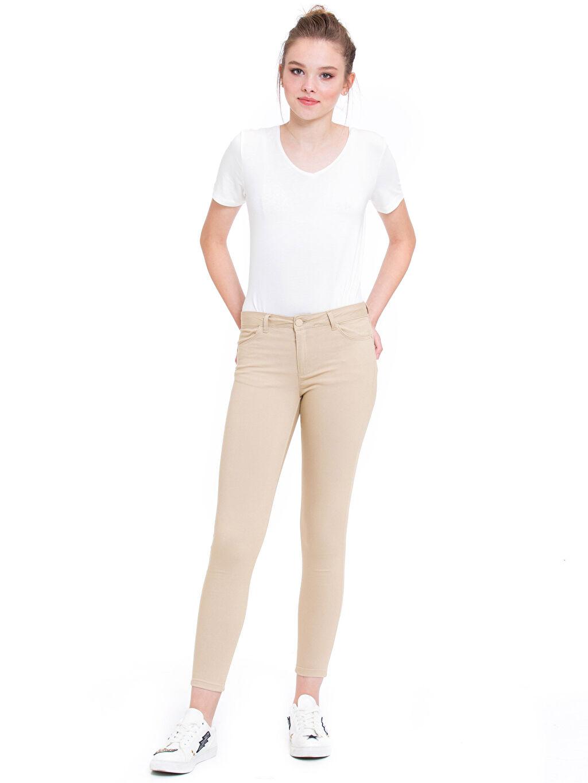 Kadın Normal Bel Dar Pantolon