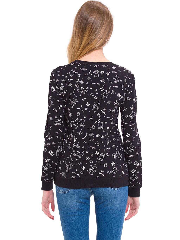 %100 Pamuk  Baskılı Sweatshirt