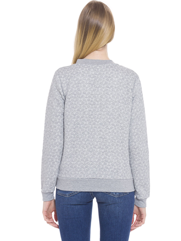 %29 Pamuk %71 Polyester  Fermuarlı Sweatshirt