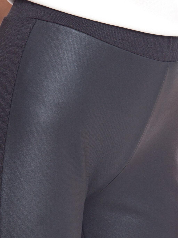 %96 Polyester %4 Elastan Deri Görünümlü Tayt