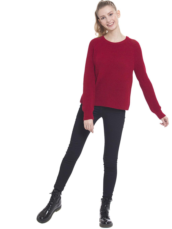 Kadın Cepleri Metal Halka Detaylı Skinny Pantolon