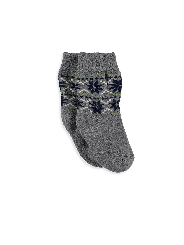 %9 Poliester %2 Poliamid %88 Akrilik %1 Elastane Çorap Termal Soket Çorap