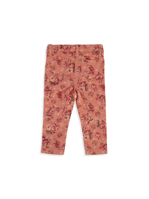 %98 Pamuk %2 Elastan Normal Bel Dar Kız Bebek Kadife Skinny Pantolon