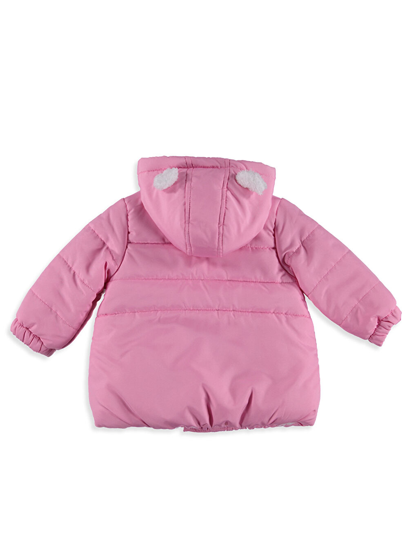 %100 Polyester %100 Polyester Kalın Kaban Kız Bebek İçi Kürklü Kaban