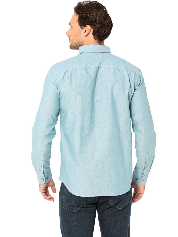 %100 Pamuk Düz Normal Uzun Kol Gömlek Düğmeli Regular Fit Uzun Kollu Oxford Gömlek