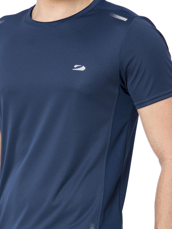 %100 Polyester Bisiklet Yaka Aktif Spor Tişört