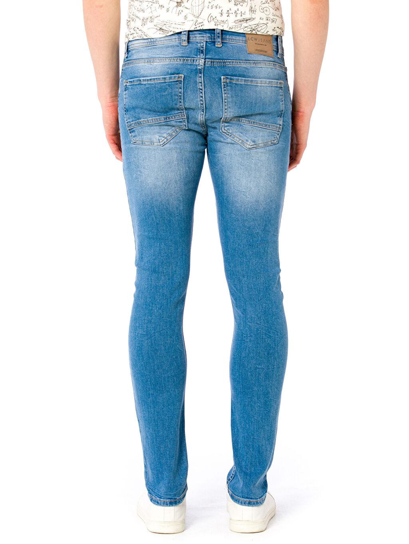%98 Pamuk %2 Elastan Normal Bel Dar Jean 760 Skinny Fit Yırtık Görünümlü Jean Pantolon