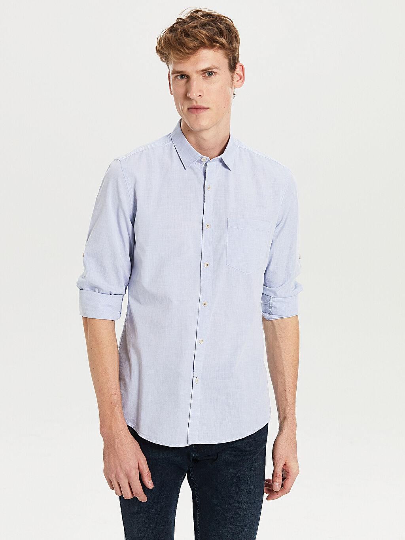 Mavi Extra Slim Fit Uzun Kollu Filafil Gömlek 8S8108Z8 LC Waikiki