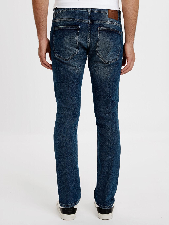 Erkek Sarıyer 750 Slim Fit Yırtık Detaylı Jean Pantolon