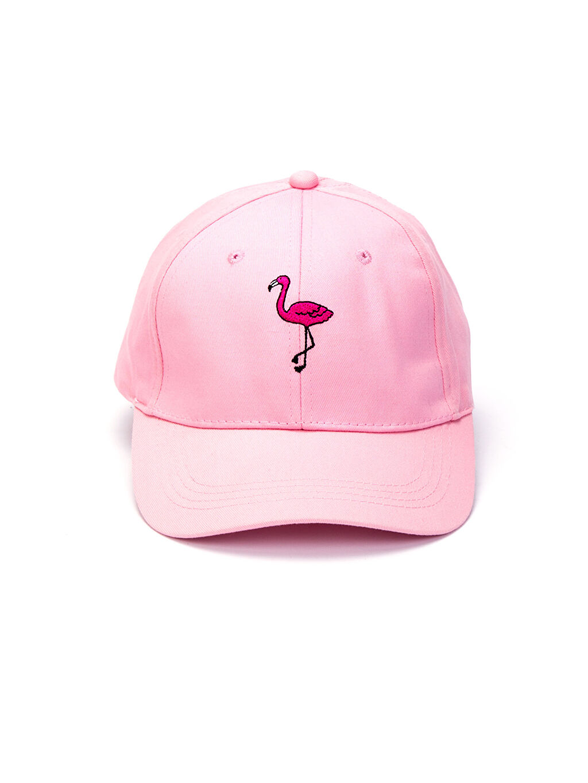 %100 Pamuk Şapka Nakışlı Pamuklu Şapka