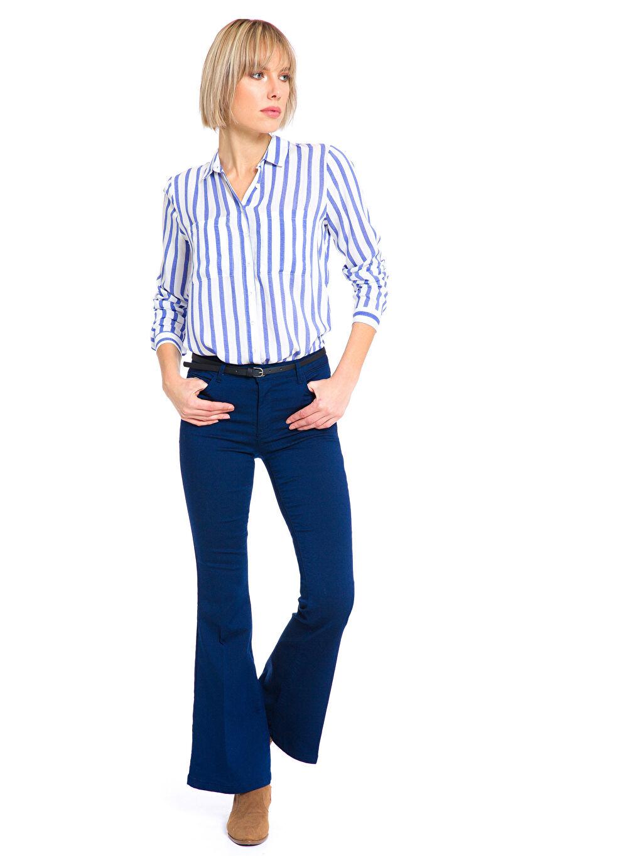 Kadın İspanyol Paça Pantolon