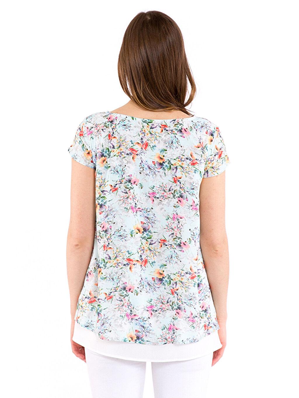 %100 Viskoz Gömlek, Bluz ve Tunik Çiçek Desenli Viskon Hamile Bluz