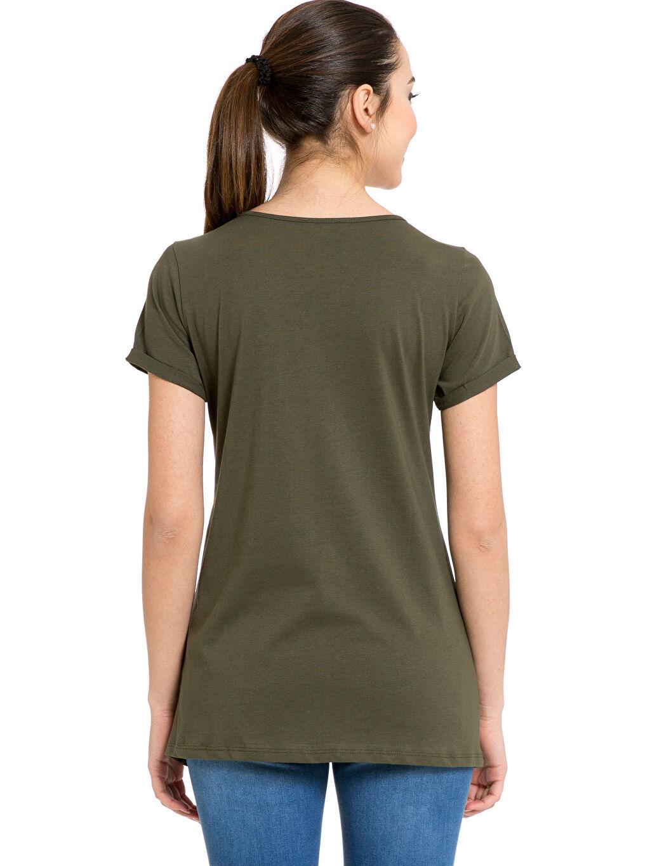 %100 Pamuk Tişört, Body ve Atlet Baskılı Hamile Tişört
