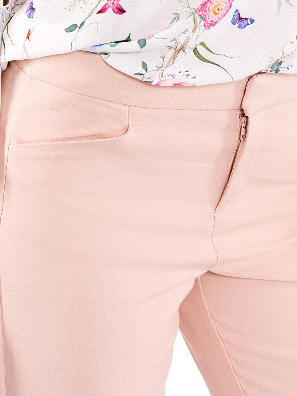 %53 Pamuk %44 Polyester %3 Elastan Bilek Boy Kumaş Pantolon