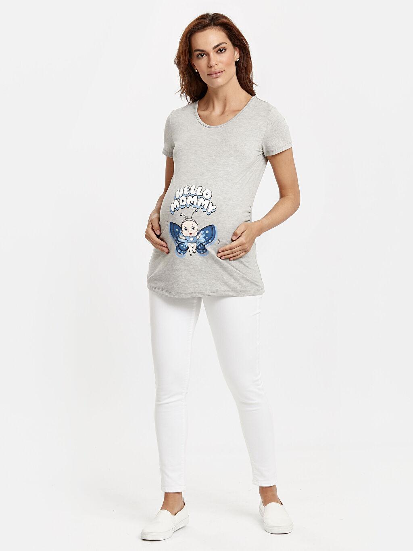 Kadın Baskılı Esprili Hamile Tişört