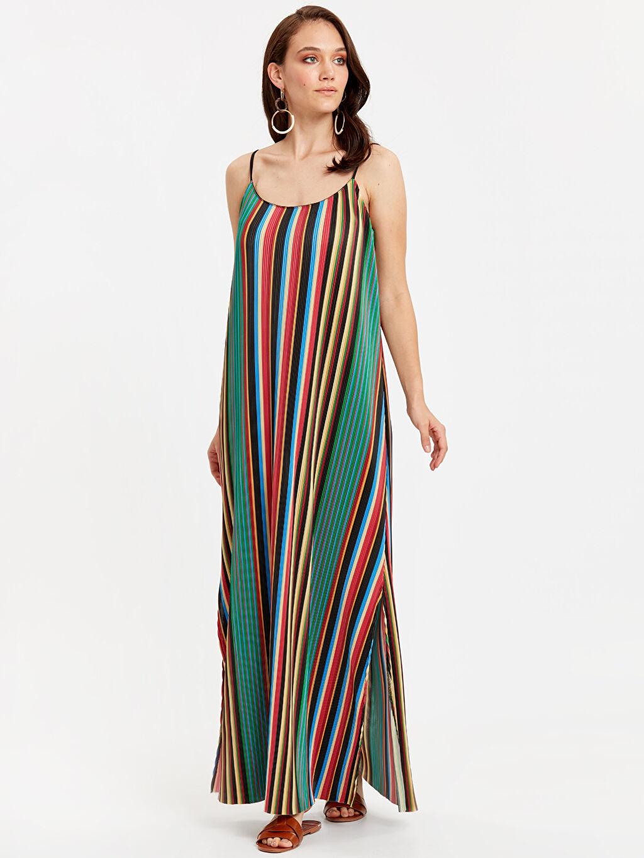 Kırmızı Çizgili Uzun Elbise 8SL550Z8 LC Waikiki