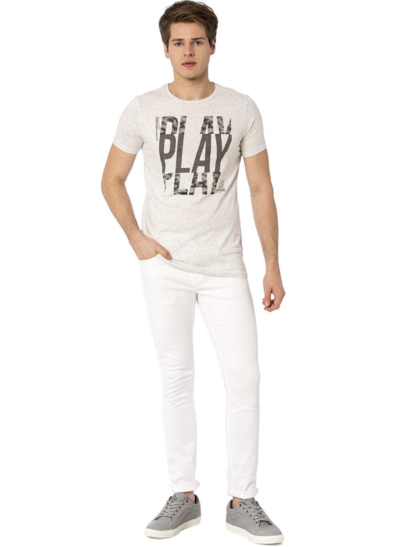 Beyaz Skinny Gabardin Pantolon 8S4389Z8 LC Waikiki