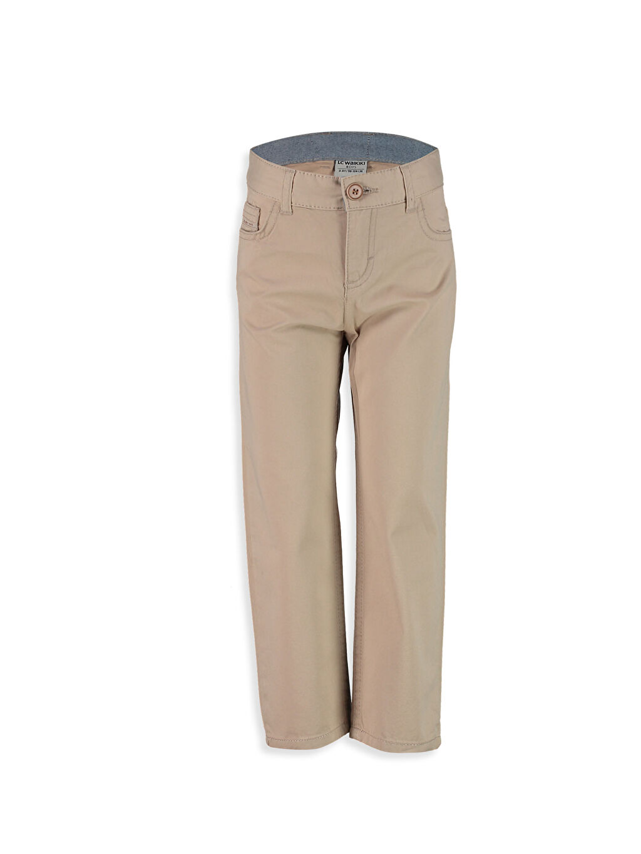 Bej Standart Kalıp Gabardin Pantolon 8S0524Z4 LC Waikiki