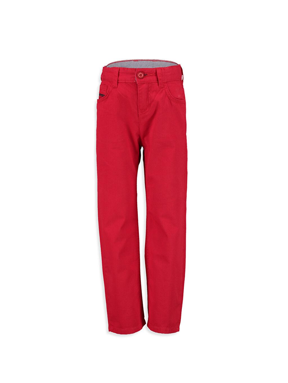 Kırmızı Standart Kalıp Gabardin Pantolon 8S0524Z4 LC Waikiki