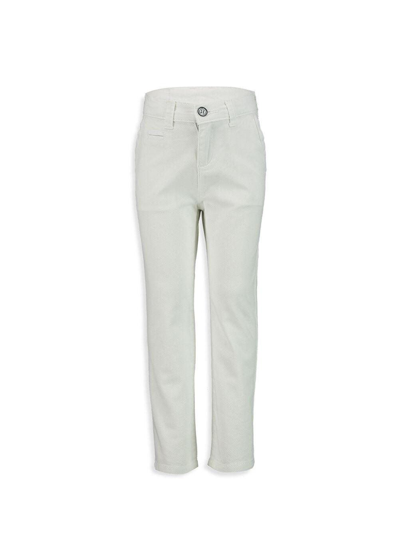 Beyaz Slim Chino Pantolon 8S0543Z4 LC Waikiki