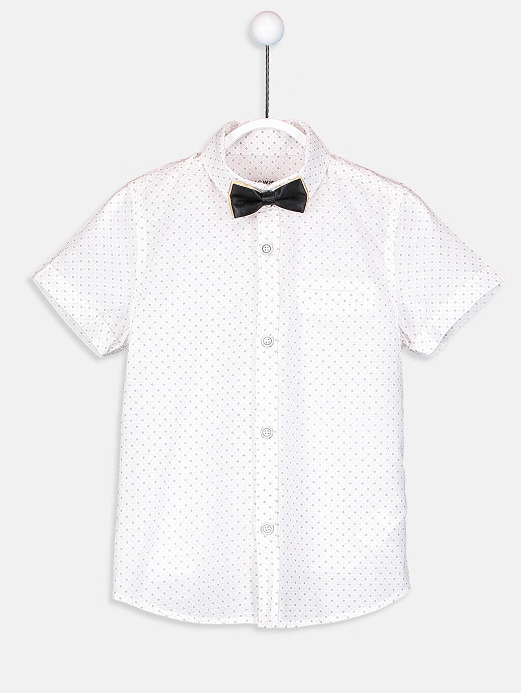 Beyaz Poplin Gömlek ve Papyon 8S3398Z4 LC Waikiki
