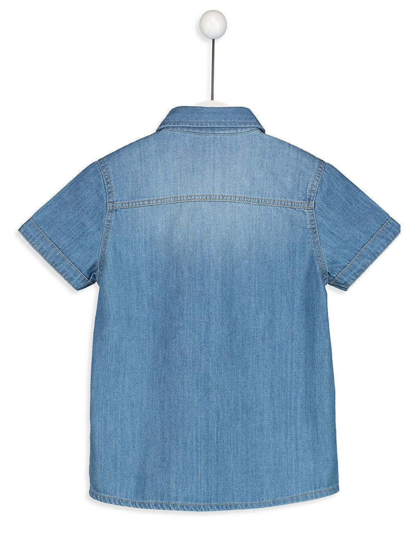 Erkek Çocuk Baskılı Jean Gömlek