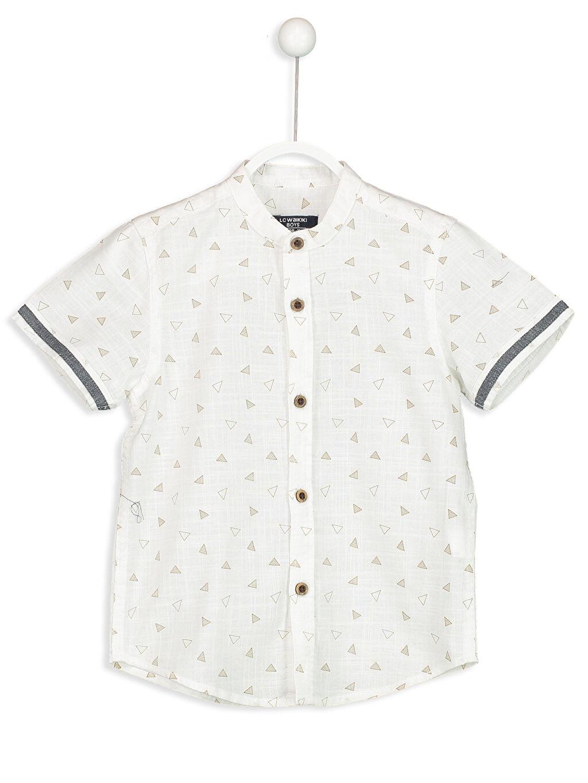 Beyaz Kısa Kollu Poplin Gömlek 8SB708Z4 LC Waikiki