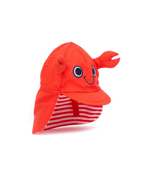 %100 Polyester Erkek Bebek Güneş Şapkası
