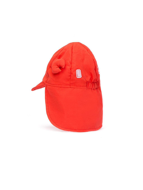 Kırmızı Erkek Bebek Güneş Şapkası