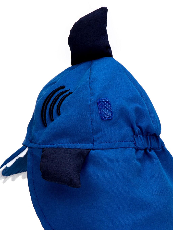 LC Waikiki Mavi Erkek Bebek Aplikeli Güneş Şapkası