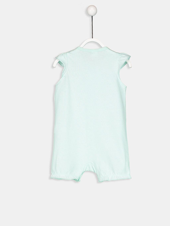 %100 Pamuk Standart Tulum Kız Bebek Unicorn Baskılı Pamuklu Tulum