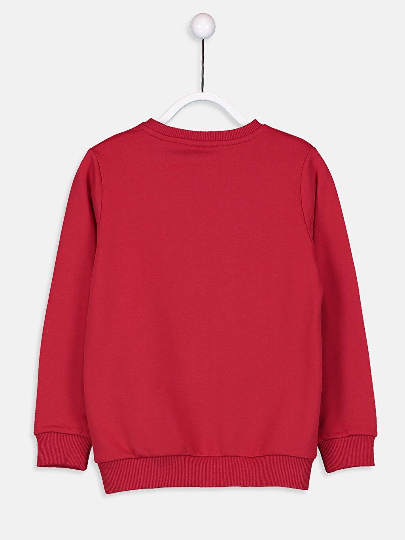 %70 Pamuk %30 Polyester Erkek Çocuk Yazı Baskılı Sweatshirt
