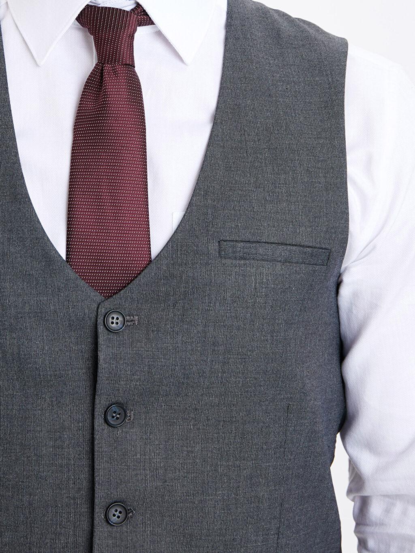 %65 Polyester %3 Elastan %32 Viskon Dar Kalıp Klasik Yelek