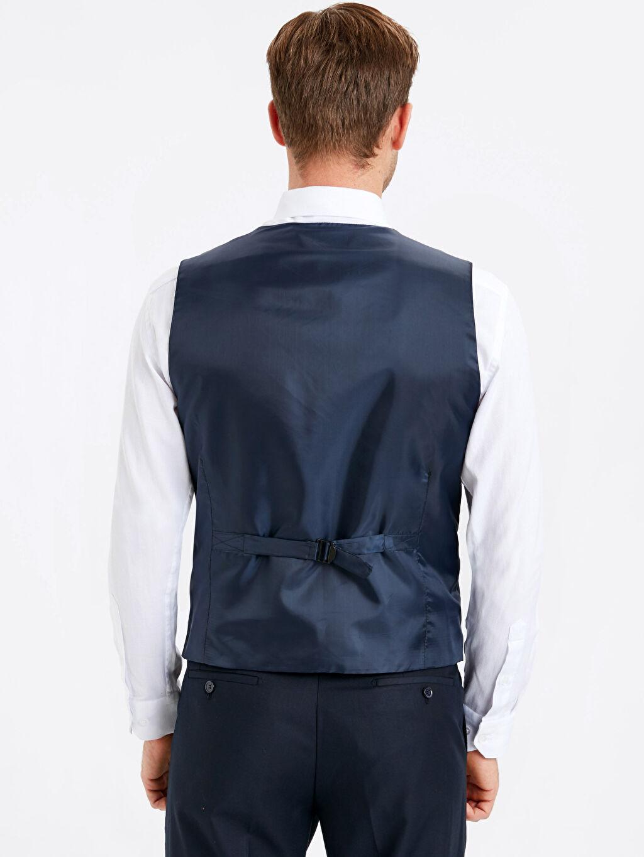 %70 Polyester %30 Viskon %100 Polyester Dar Kısa Yelek Dar Kalıp Klasik Yelek
